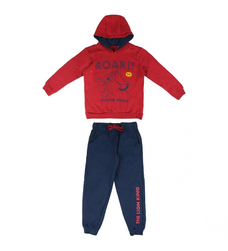 Comprar Disney & Friends Brush Fleece Tracksuit Lion King red, navy