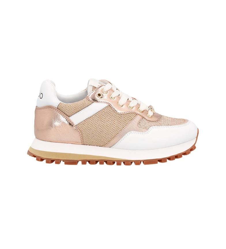 Comprar Liu Jo Sneakers Wonder 1 in pelle oro, bianco