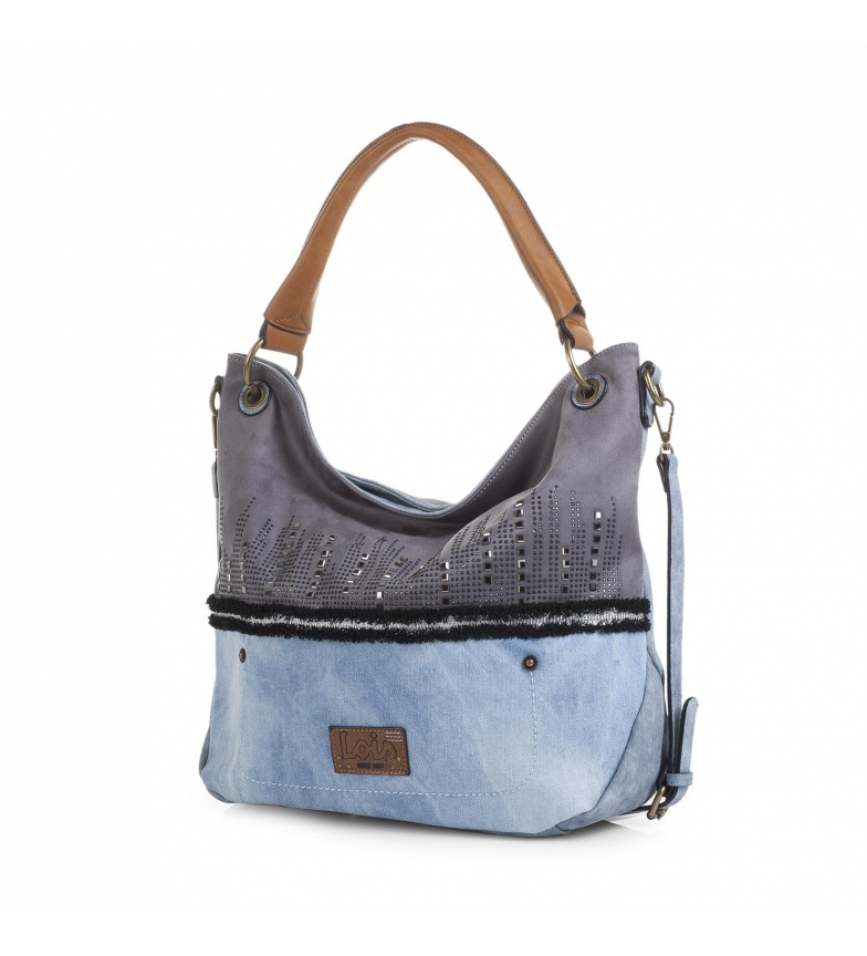 Comprar Lois 92570 BAG WITH BANDOLERA color blue -34x43x12-