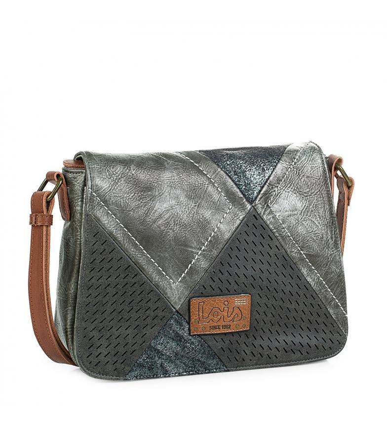 28c5ae22c Comprar Lois 96415 BOLSO BANDOLERA color gris metalizado -21x27x8,5cm-