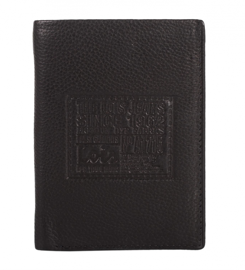 Comprar Lois Lois Stamp leather wallet black -11x8x2-