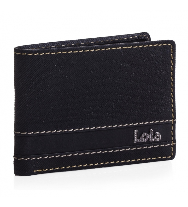 Comprar Lois Leather wallet Lois Illinois black color -8,5x11x2-