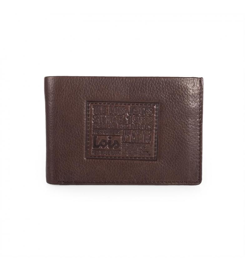 Comprar Lois Portefeuille en cuir Lois Stamp brun foncé -7,5x11x2-