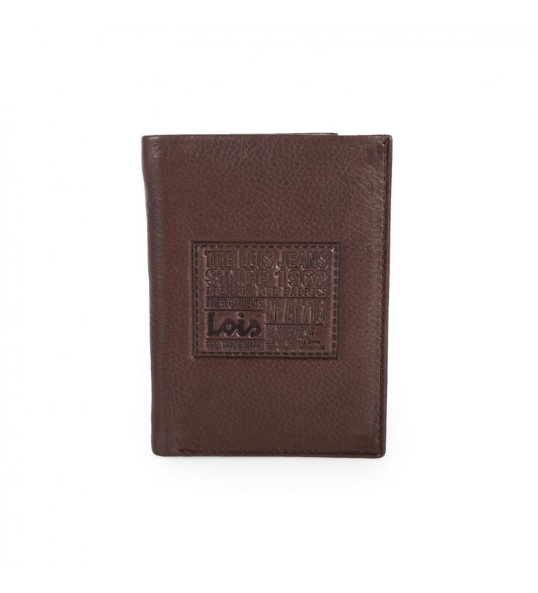 Comprar Lois Leather wallet Lois Stamp dark brown -11x8x2-