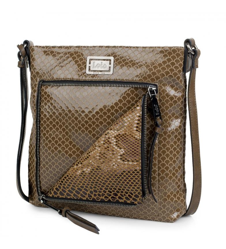 Comprar Lois 302144 taupe shoulder bag -28x27x8cm