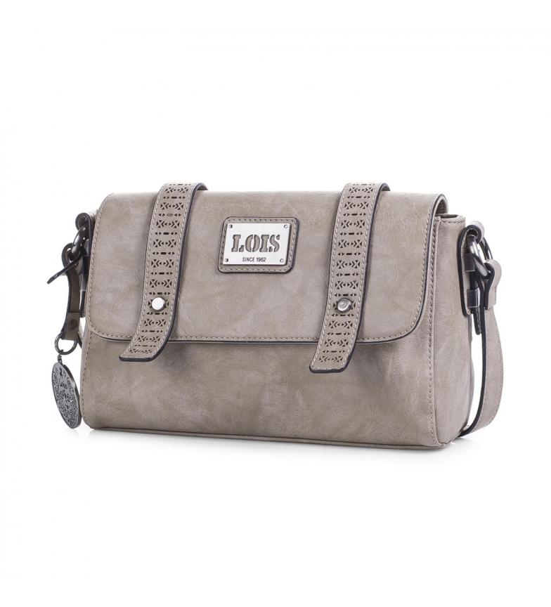 2324bee0721 Lois - Bolso Bandolera Lois Harrisburg color beige -16x25