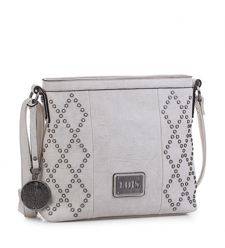 Comprar Lois Lois Lincoln shoulder bag broken white -24x25x8-