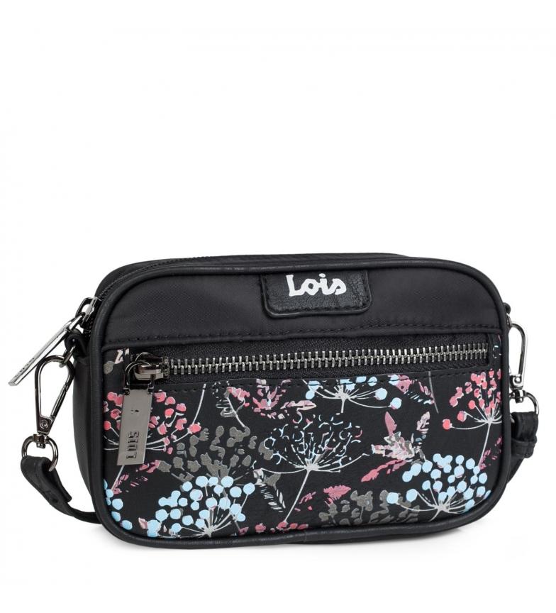 Lois Small Shoulder Bag Convertible into Bum Bag 304073 black -17x11x5cm