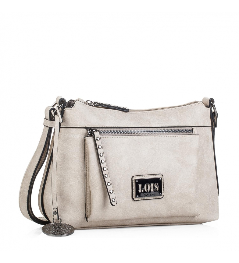 557bda11534 Comprar Lois Bolso bandolera tipo góndola Lois Lansing color beige ...