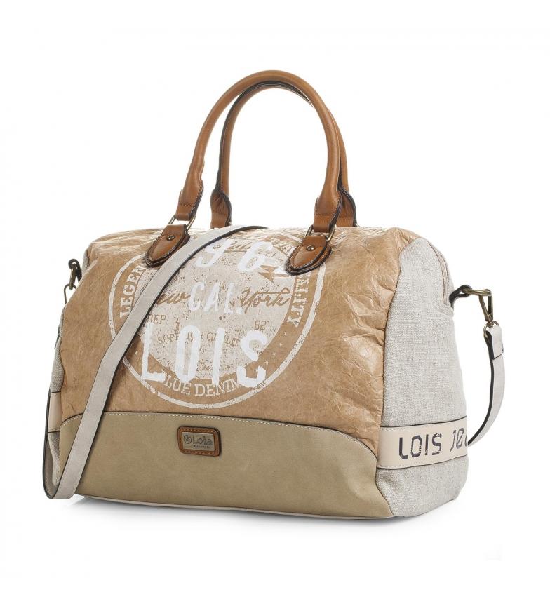 Comprar Lois Bowling bag Lois Columbus color beige -24x34x18-