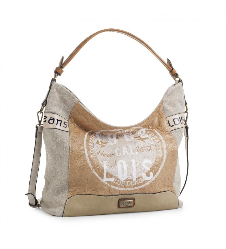 Comprar Lois Hobo bag Lois Columbus colore beige -35x41x41x13-