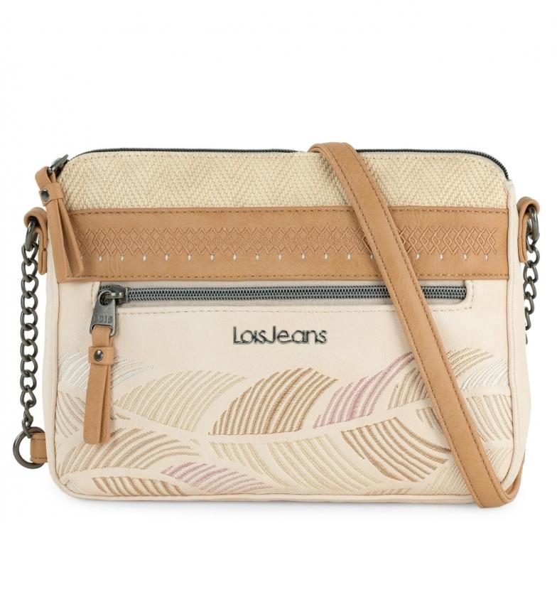 Lois Galatea shoulder bag beige, brown - 26x19x5cm