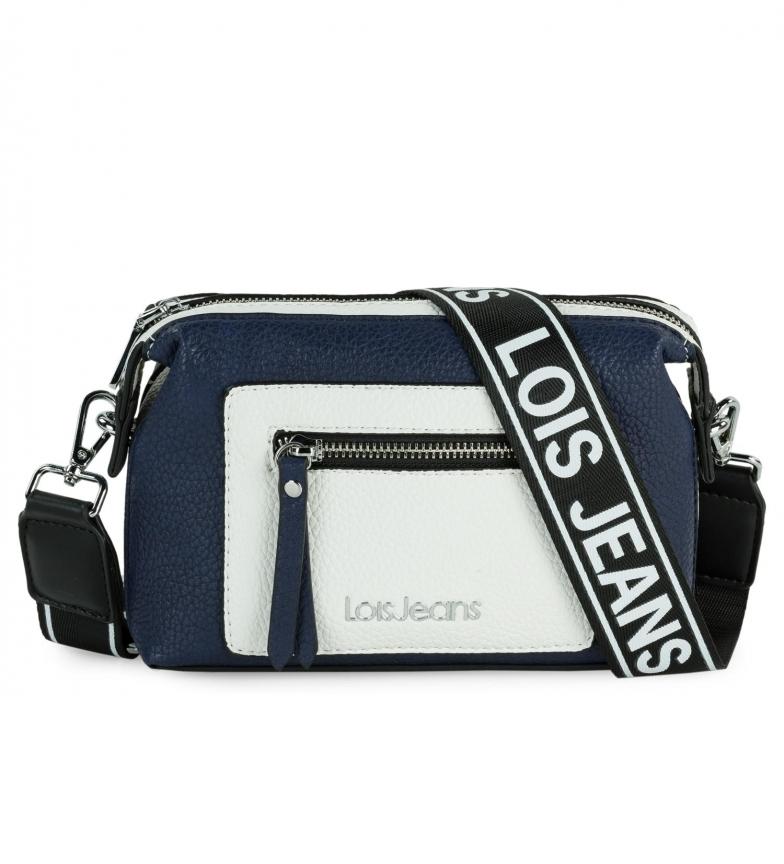 Lois Borsa a tracolla Neacola blu, bianca -20x13x7cm-