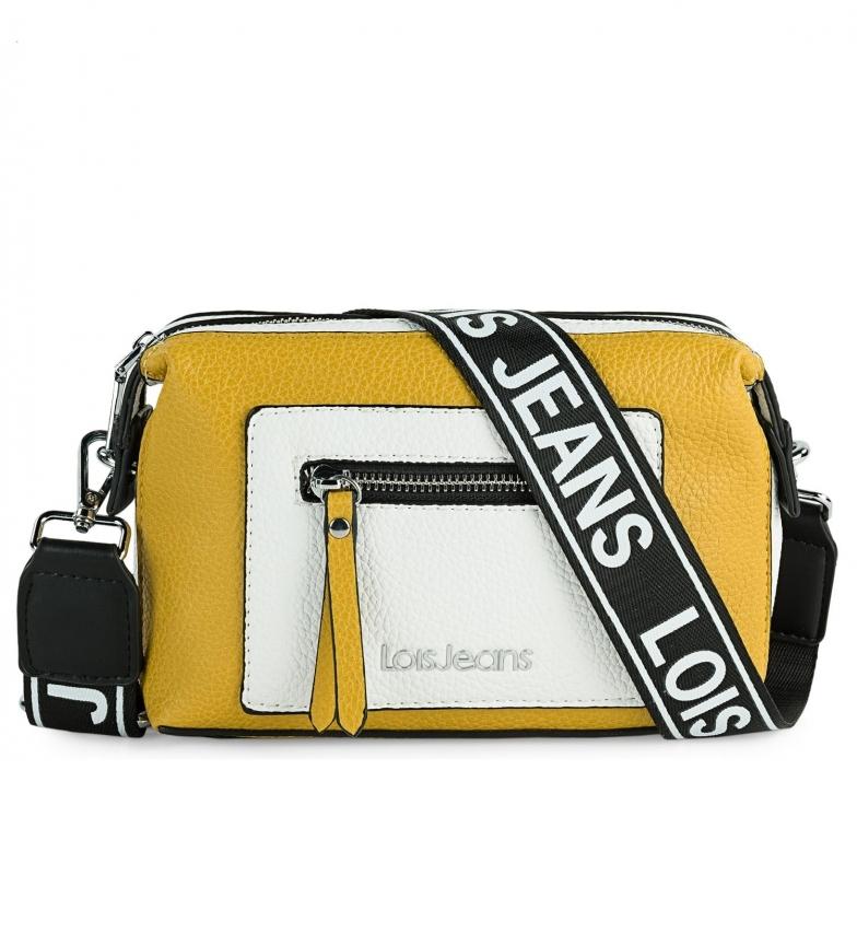 Comprar Lois Saco de ombro Mustard Neacola, branco -20x13x7cm