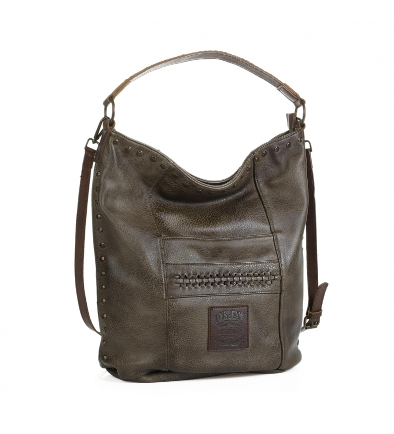 Comprar Lois Lois Des moines hobo bag dark brown color -37x37x17-