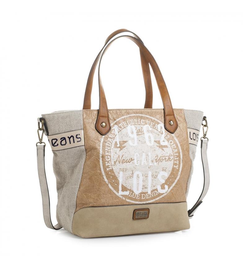 Comprar Lois Lois Columbus sacola de compras bege -33x46x13-