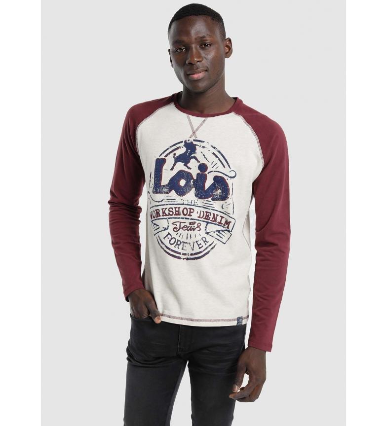 Comprar Lois T-shirt dianteira Rangla branca, vermelha