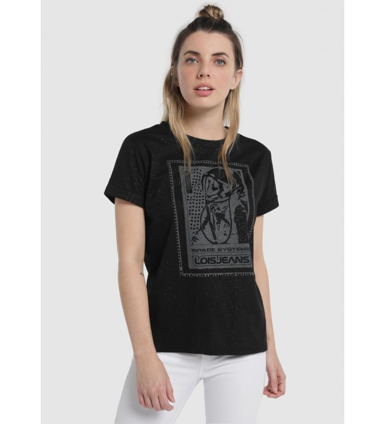Comprar Lois Martelo Shine T-shirt preta
