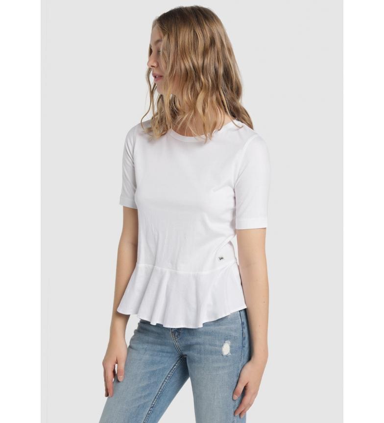 Comprar Lois Pauline Sevilha Camiseta do volante branca