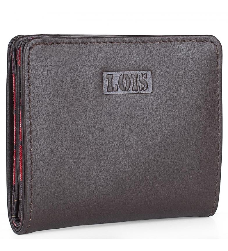 Comprar Lois Portafoglio in pelle 202044 marrone scuro-10x8,7cm-