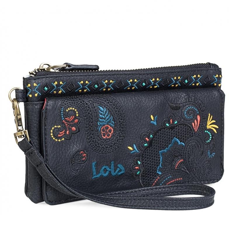 Comprar Lois Portafoglio grande da ricamo 302620 nero -10x19x1cm