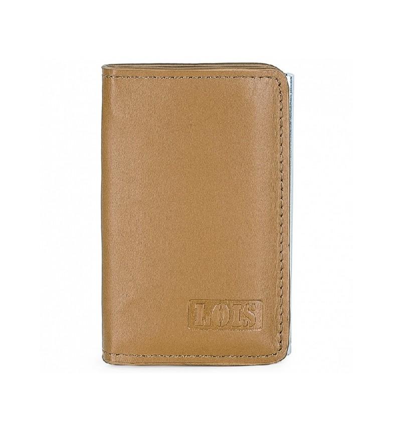 Comprar Lois Porta-cartões em couro 202052 camelo -10,5x6,5x1,5cm
