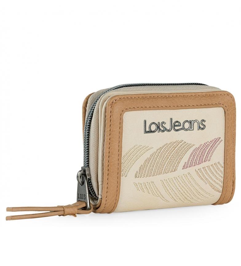Lois Portafoglio Galatea beige, marrone - 10,5x8x3cm -