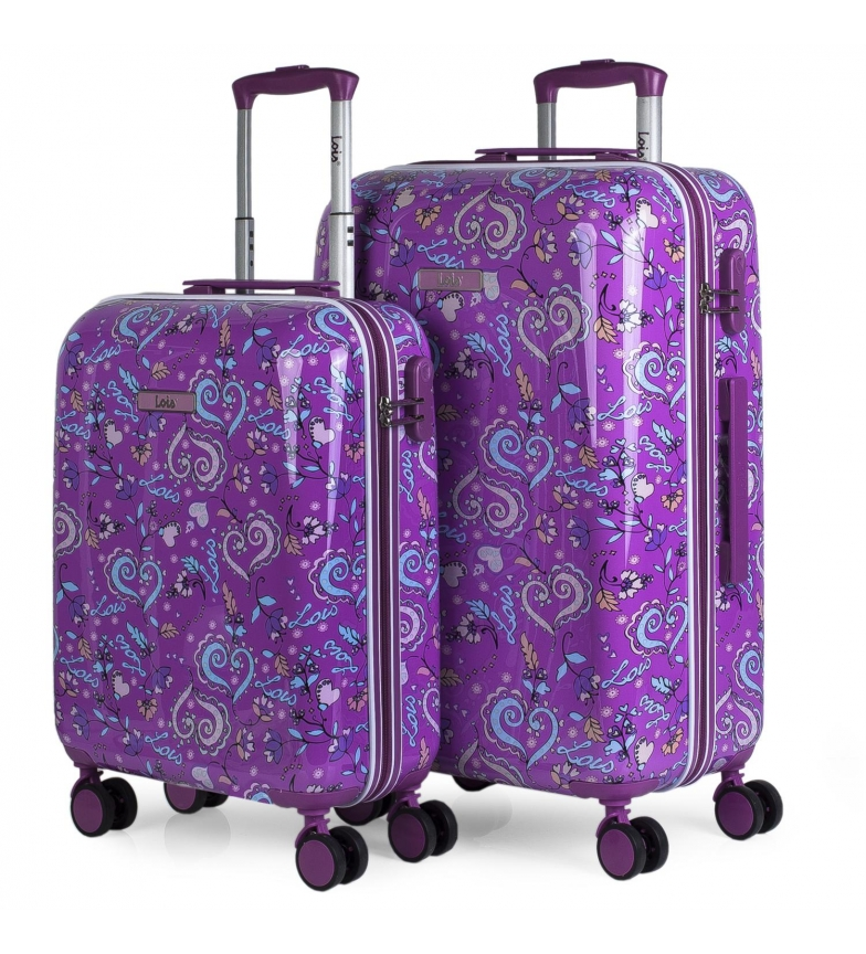 Lois Conjunto de 2 malas Nicosia 130200 lilás - 44x67x24cm