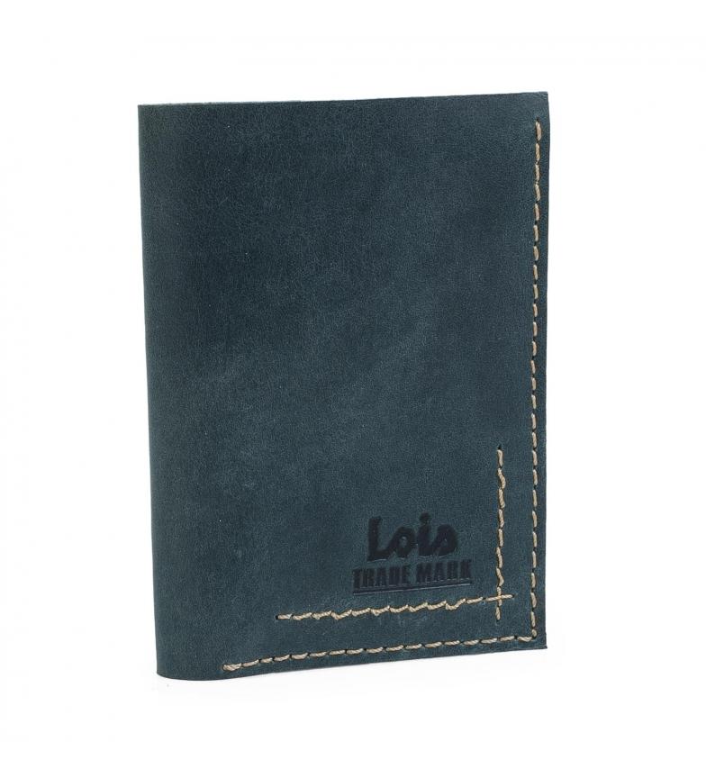Comprar Lois LOIS Billetero de piel color azul -11x8x2-