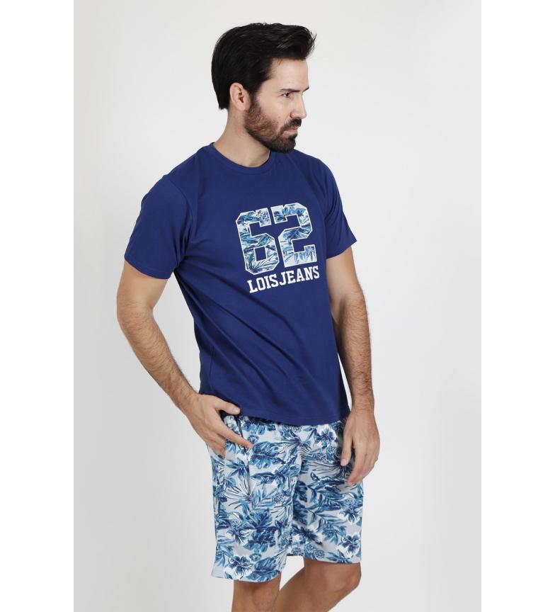 Comprar Lois Pyjama à manches courtes Plants navy