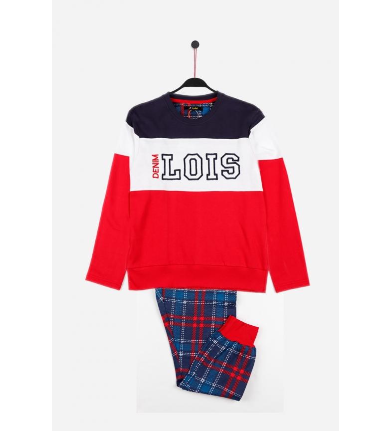 Comprar Lois Pyjama à manches longues Sport rouge