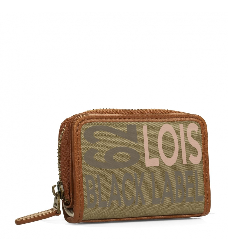 Comprar Lois Leather wallet Lois Bismarck khaki color -7x10,5x3-