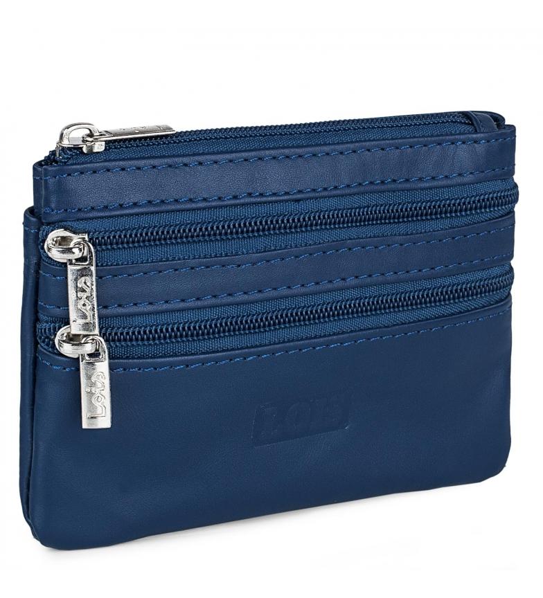Comprar Lois Carteira de couro 202064 azul -12x8,5cm