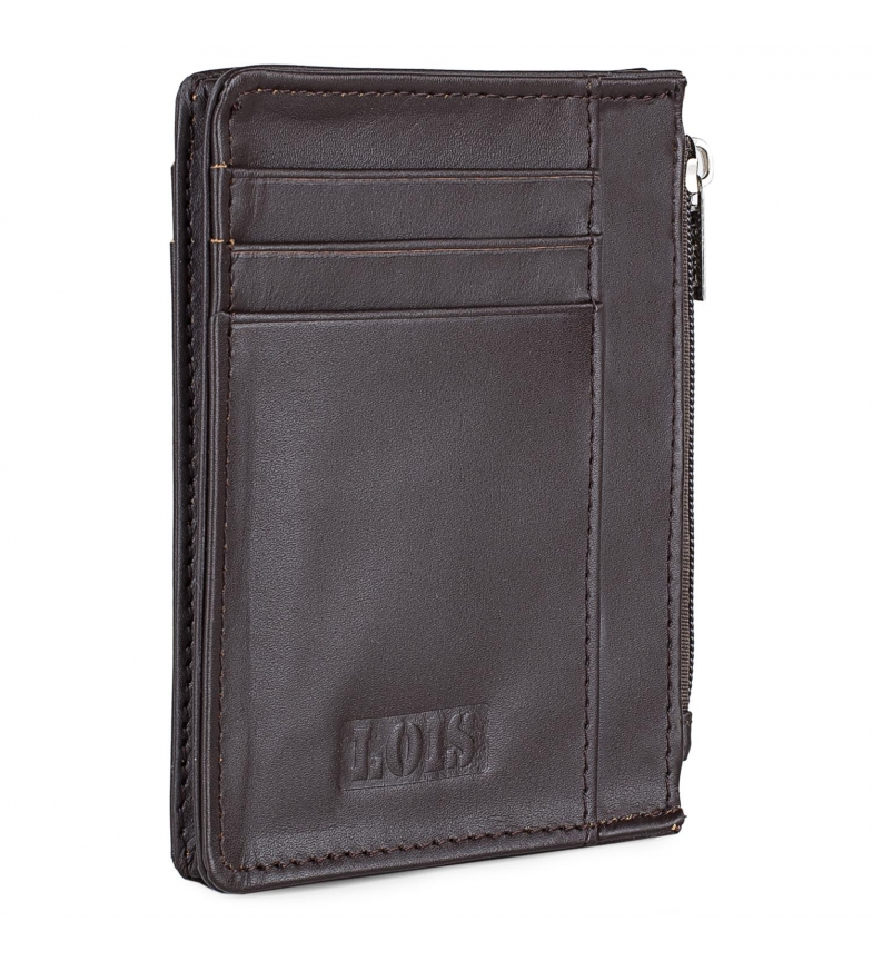 Comprar Lois Leather wallet 202004 dark brown -8,3x11,3x1cm