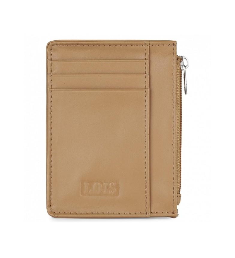 Lois Leather wallet 202004 camel -8,3x11,3x1cm