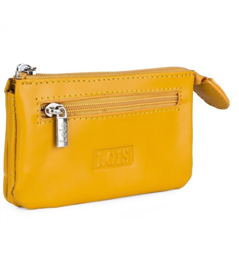 Comprar Lois Leather purse 202059 ochre -10,5x6,5cm