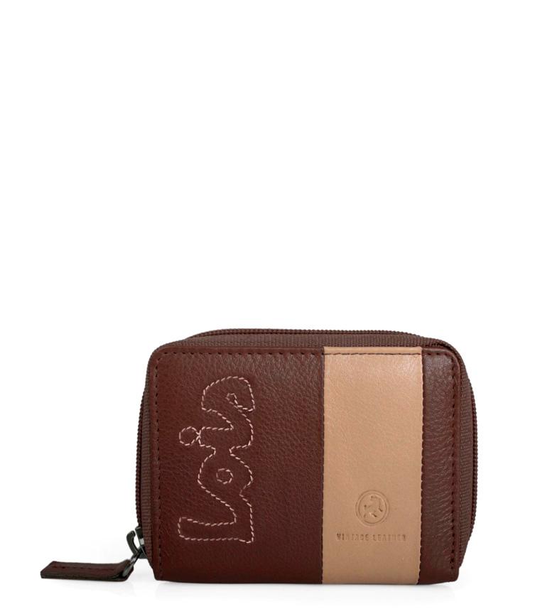 Comprar Lois Leather purse Colors brown -10,5x8cm-