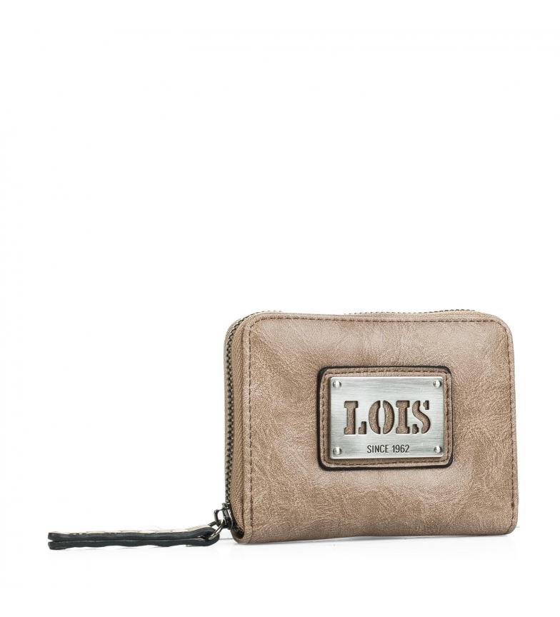 Comprar Lois Lois Lansing coin purse taupe color -8x10,5x2-