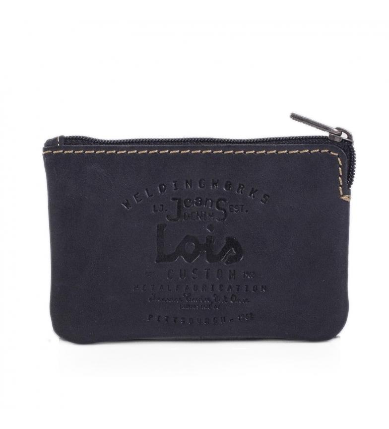 Lois Leather wallet 11002 black -10x7cm