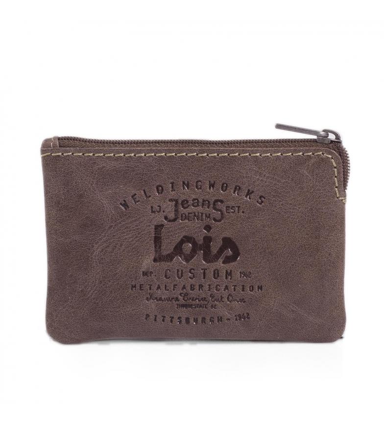 Lois Portefeuille en cuir 11002 marron -10x7cm