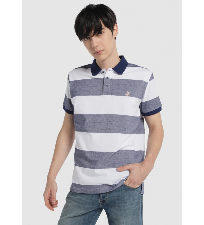 Comprar Lois Striped Polo Marine Pique, white