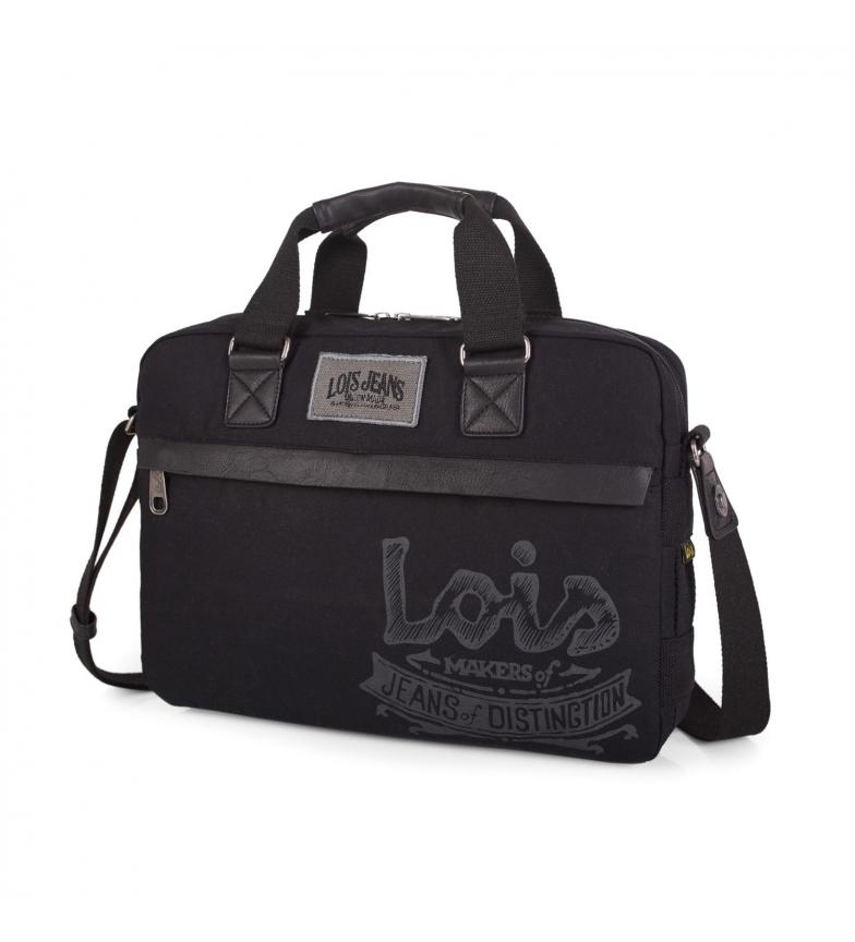 Comprar Lois Portadocumentos Lois Oiled Canvas color negro -26x37x7-