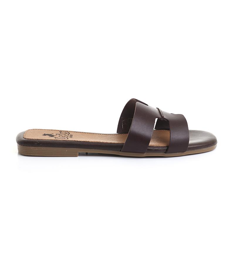 Comprar Lois Leather sandals 74282 brown