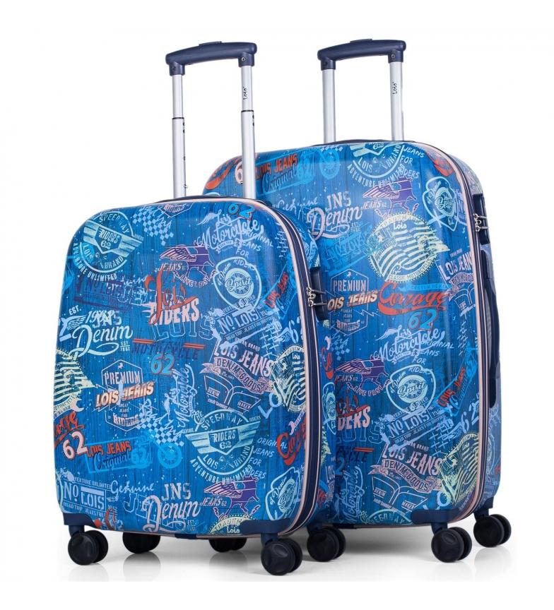 Comprar Lois Set de 2 sacs de voyage Lois Amsterdam chariot de voyage bleu marine -50x38x20cm / 70x45x25cm