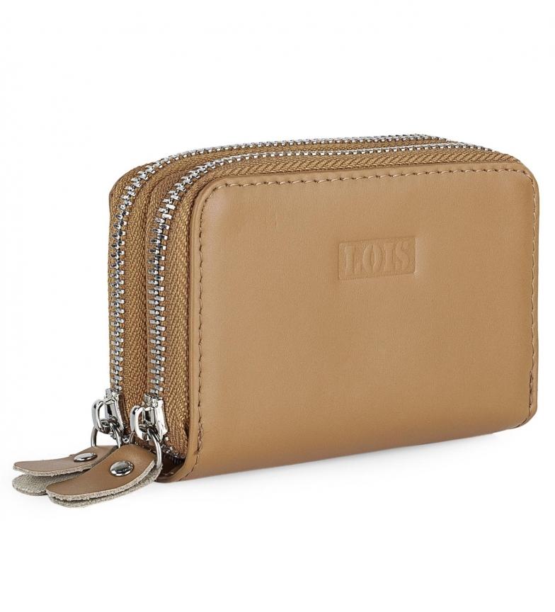 Comprar Lois Leather card holder 202006 camel -11x7x4cm