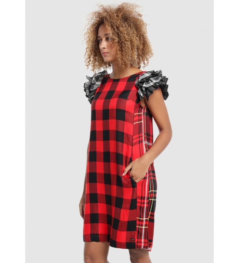 Comprar Lois Maga Lois&Roses vestido; vermelho, preto