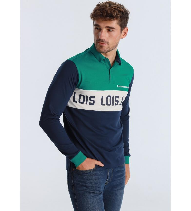 Lois Polo Nelo-Poseidon Cortes Blue Division blu navy, verde