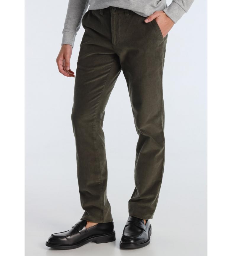 Lois Chino Tetuan-Fuensalida Corduroy green trousers
