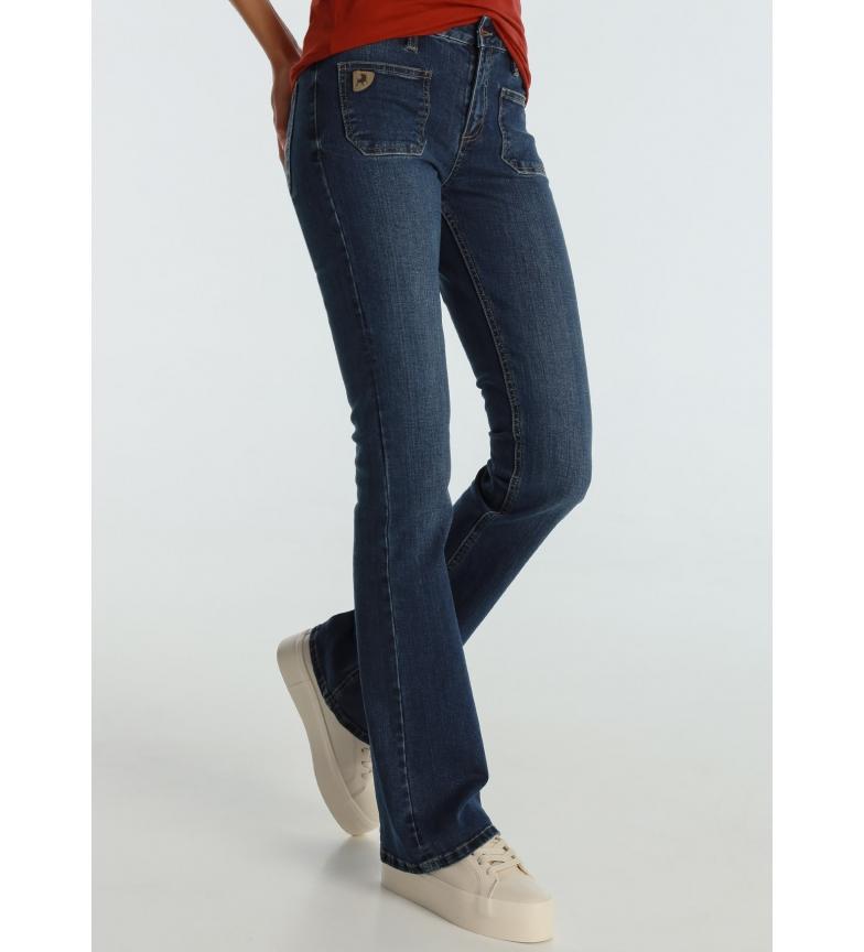Lois Jeans Agata-Sandory Medium Blue Plastron Pockets navy blue