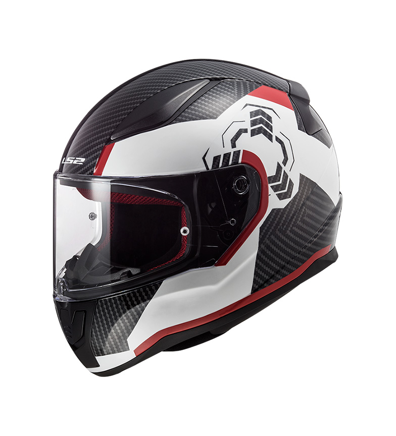 Comprar LS2 Helmets Rapid FF353 Ghost White, Black, Red Integral Helmet